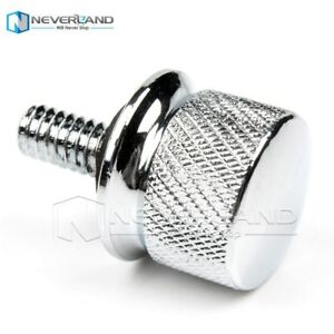 1 Pair Silver 1/4 - 20 Thread Seat Bolt Screw Cap Nuts for Harley Sportster Dyna