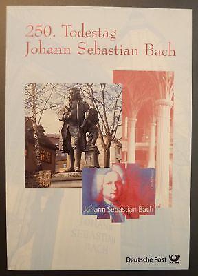 Freundschaftlich Brd Sonderkarte 2000 Musik Bach Komponist Denkmal Music Composer Monument U69 Musik