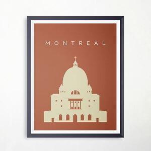Montreal L Oratoire Saint Joseph Du Mont Royal Travel Poster Landmark Imprimer Ebay