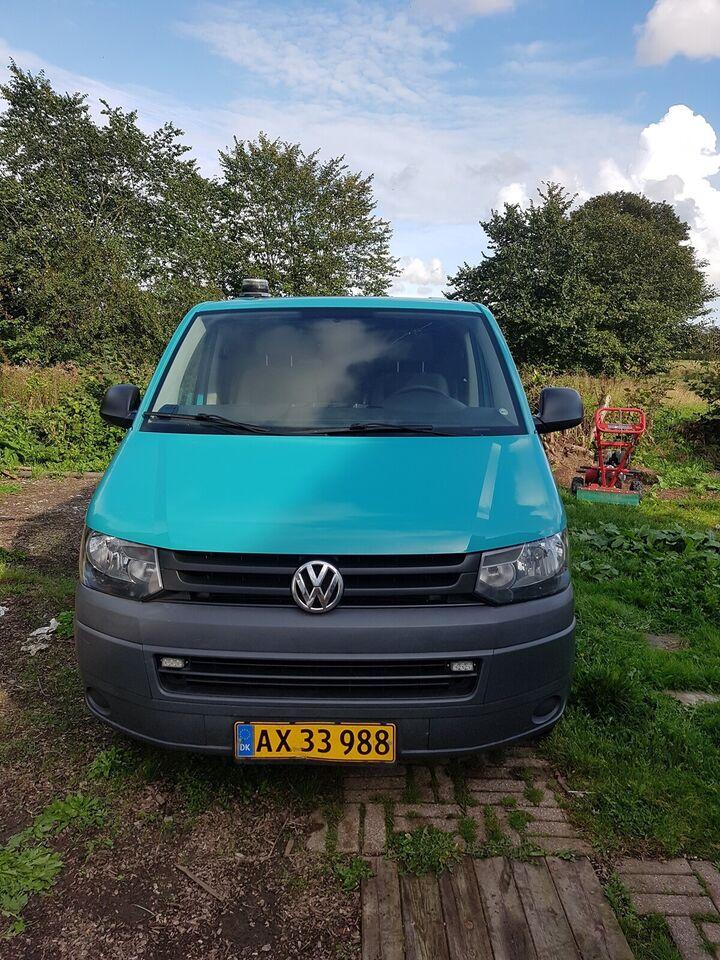 VW, Transporter, 2,0 TDi 102 Kassev. kort/høj