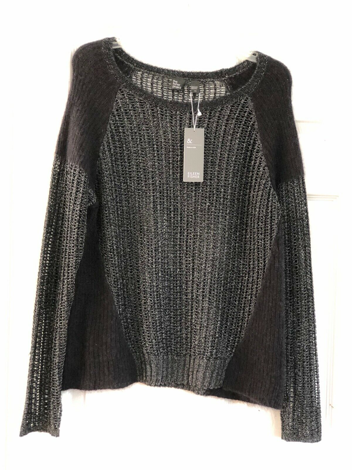 The Fisher Project Ballet NK Crop Sweater Size L G