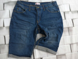 Sheego-Ladies-Stretch-Jeans-short-Size-44-Blue-Tone-plus-Size-162-New