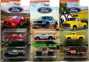 2019-MATCHBOX-FORD-TRUCK-SERIES-COMPLETE-SET-6-CAR-FORD-F-150-MOON-EYES-GULF