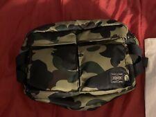 A BATHING APE Goods Men/'s BAPE x PORTER 1ST CAMO WAIST BAG Shoulder CROSSBODY