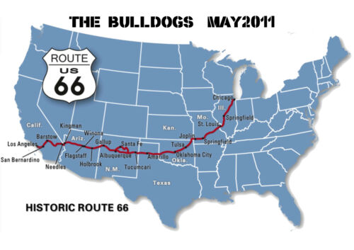 T SHIRT ROUTE 66,USA,PERSONALISED BIKE,MOTORCYCLE ROAD TRIP