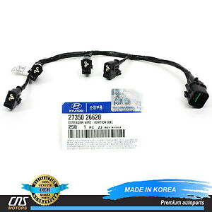 s l300 genuine ignition coil wire harness fits 2006 11 accent rio rio5  at bayanpartner.co