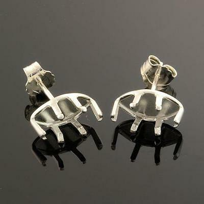 (3x6mm - 10x5mm) Sterling Silver Snap-tite Marquis Earring Settings