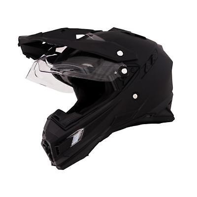 ONeal Sierra Moto Cross Helm Gr. XS Schwarz Motorrad Enduro Visier Sonnenblende