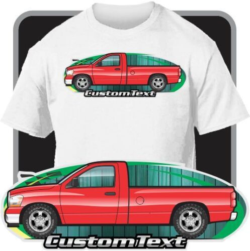 Custom Car Art T-shirt 2006 2007 2008 Dodge Ram 1500 2500 SRT-10 Pickup Truck