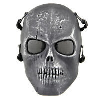 Skull Face Protect Mask Metal Mesh Eye Shield For Bb Gun Hunting Military Use