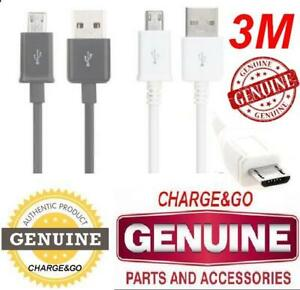3-M-Metri-Samsung-Galaxy-Note-1-2-3-4-S5-Micro-USB-Cavo-Caricabatteria-amp-Dati