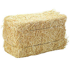 Mini Straw Bales are made of wheat and come individually wrapped. Lot of 2