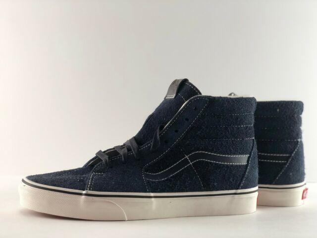 585fbcd037 VANS Sk8 Hi Hairy Suede Sky Captain Men s Classic Skate Shoes Size ...