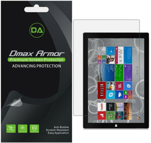 3-Pack Dmax Armor Clear Screen Protector for Microsoft Surface Pro 3