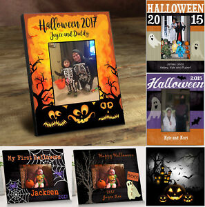Personalized-Halloween-Picture-Photo-Frames-for-4-034-x-6-034-Photo-5-Styles-to-Choose