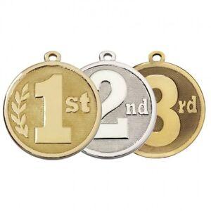 25 x Football médailles avec des rubans métal Gravure Gratuite