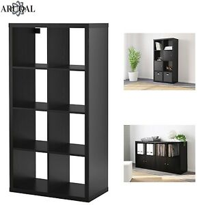 Image Is Loading Ikea Kallax Black Brown 8 Shelving Unit Display