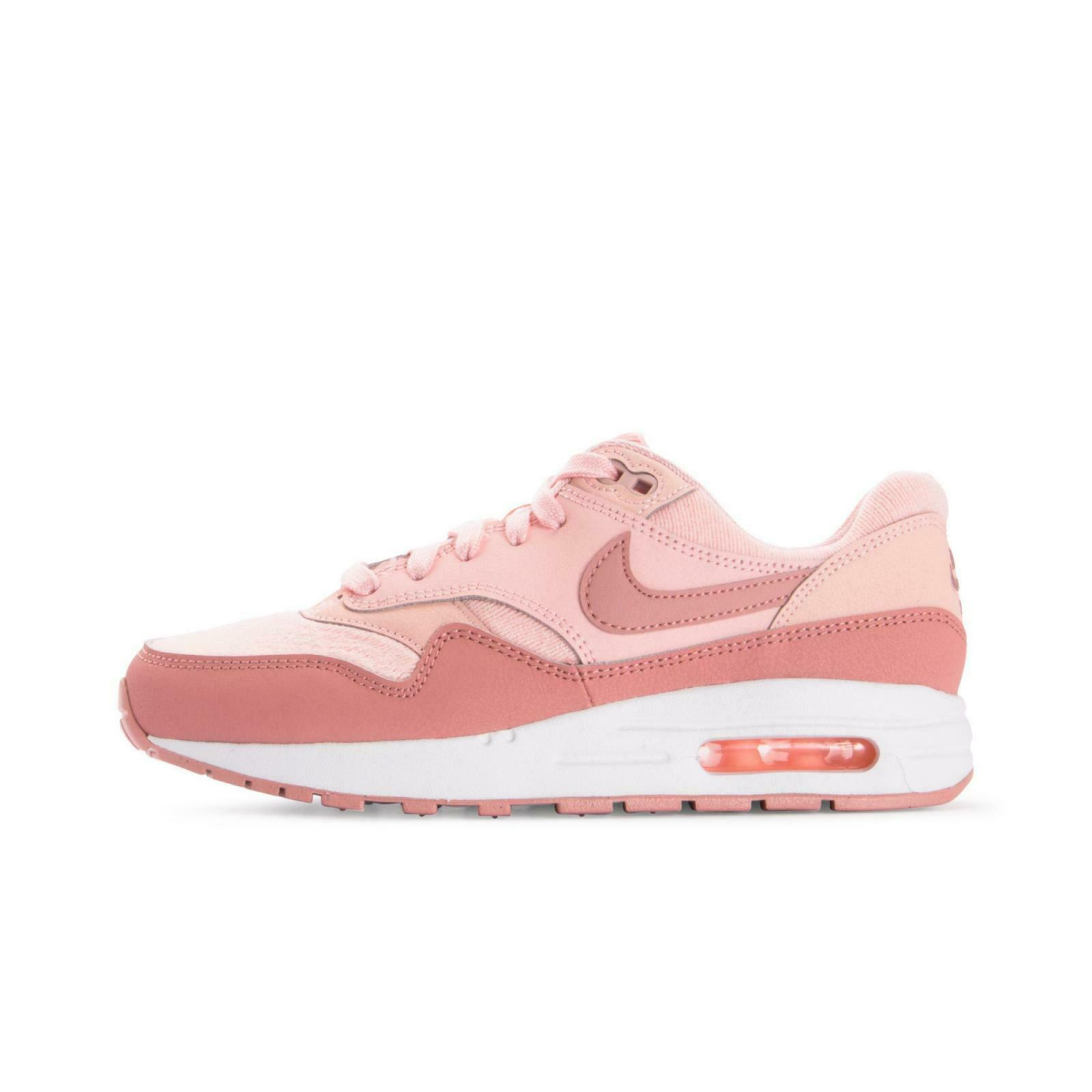 Size 5.5y   7 Women's Nike Air Max 1 SE Storm Pink Aq3188 600 Casual Running
