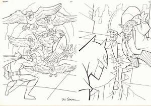 The Batman vs Penguin Coloring Activity Book pgs. 44 & 45 - art by Joe Staton