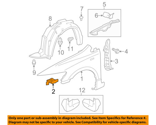 HONDA OEM 06-11 Civic-Fender Stay Support Bracket Right 60212SNAA00ZZ