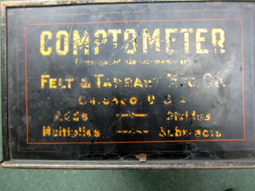 Vintage 1920/'S Comptometer Shoebox Felt /& Tarrant  Adding-Calculator Machine