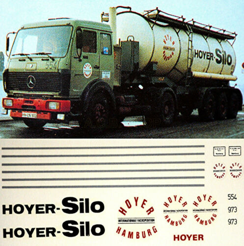 Mercedes Benz hoyer silo Hamburgo Alemania 1:87 Truck decal camiones estampado D