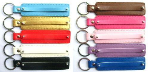 10pcs Mix Couleur PU Cuir Porte-clés fit 8 mm Slide Charms À faire soi-même Charms