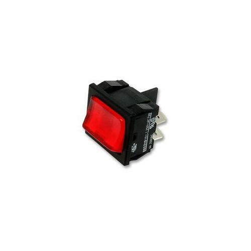 Illum Red DPST H8653VBNAC Arcolectric Switches Rocker Switch