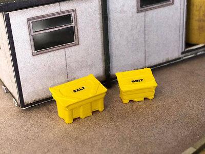 OO Gauge 3D printed for model railways 4 modern square bins 1:76