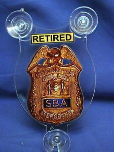 NYC-SBA-SERGEANTS-BENEVOLENT-ASSN-RETIRED-CAR-SHIELD-PBA-FOP-DEA-NOT-METAL