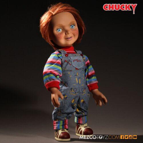"Child/'s Play Chucky Good Guys 15/"" Mega Scale Talking Doll MEZCO souriant"