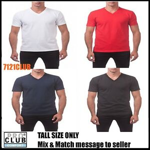 6b540bc12add Details about LOT 3 PACK PRO CLUB MEN'S V NECK T SHIRTS SHORT SLEEVE TEE BIG  AND TALL LT-2XLT