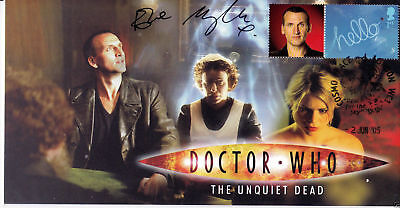 Doctor Who Signed Stamp Cover The Unquiet Dead  EVE MYLES