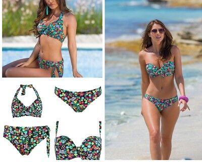 Pour Moi Hot Spots Halter Bikini Top Ditsy Floral