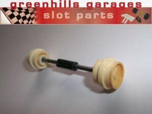 Fermeture Scalextric Brabham Bt44b Kotzting Essieu Avant Et Roues Crème-utilisé...-afficher Le Titre D'origine