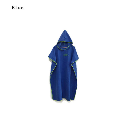 Colourful Hooded Poncho Towel Changing Robe Adult Beach Towel Surf Kitesurf Swim