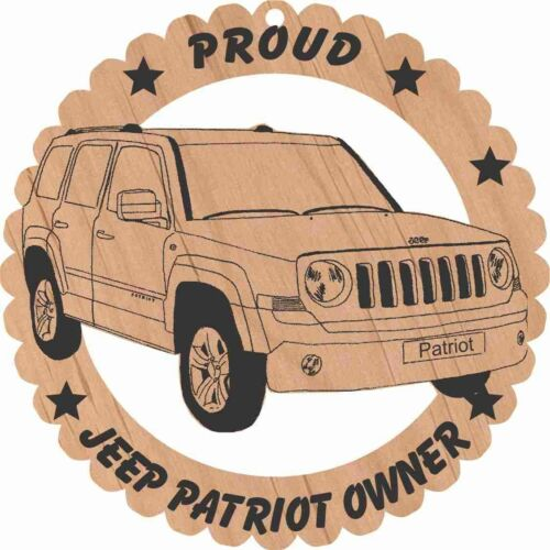 Jeep Patriot Wood Ornament Engraved Large 5 3//4 Inches Round
