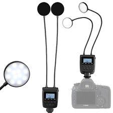 Macro TWIN LED Ring Flash Light ML-2D  for Nikon Canon Olympus Sony DSLR Camera