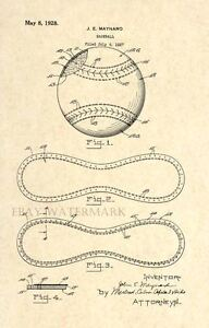Official-Baseball-US-Patent-Art-Print-Vintage-1927-Antique-Original-93