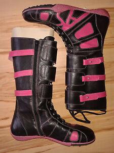 Stiefel Pink Boots Zu Gr36Schwarz Ana Leder Details Sousa Schuhe 5RjA4L