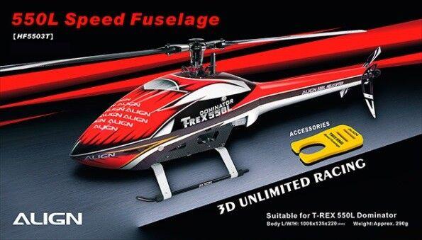 Align T-Rex 550L Speed Fuselage – Red & White