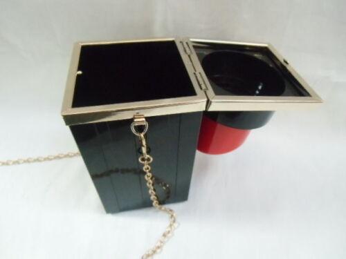 Handtasche minaudière original tube lippenstift lipstick schwarz pinup kawaii