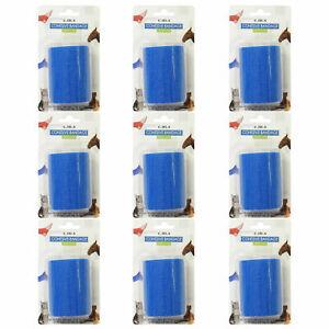 CMS-Adhesif-Bleu-7-5cm-Elastique-Pro-Cohesive-Bandage-Coban-Drape-Rouleaux-x9