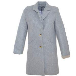 Cappottino-giacca-donna-invernale-in-lana-rasata-grigio-taglio-maschile-a-3-bott