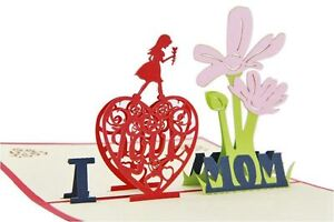 Mother-039-s-Day-Gift-3D-Greeting-Card-I-Love-Mom-Pop-Up-Birthday-Thank-You-Card