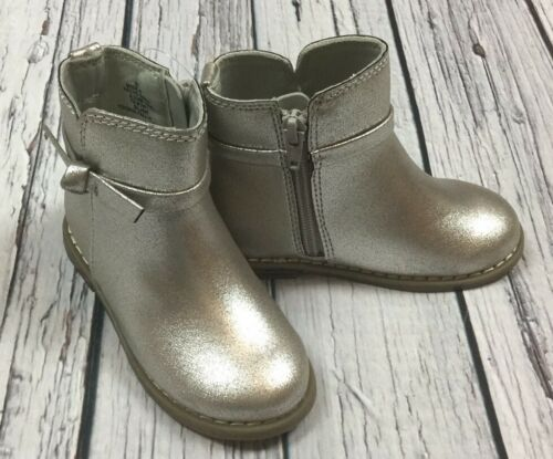 Zip Silver Boots Nwt Baby Gap Girls Size 9 Toddler Silver Boots