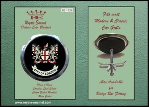 Royale Classic Car Grill Badge + Fittings - CITY OF LONDON B2.1129