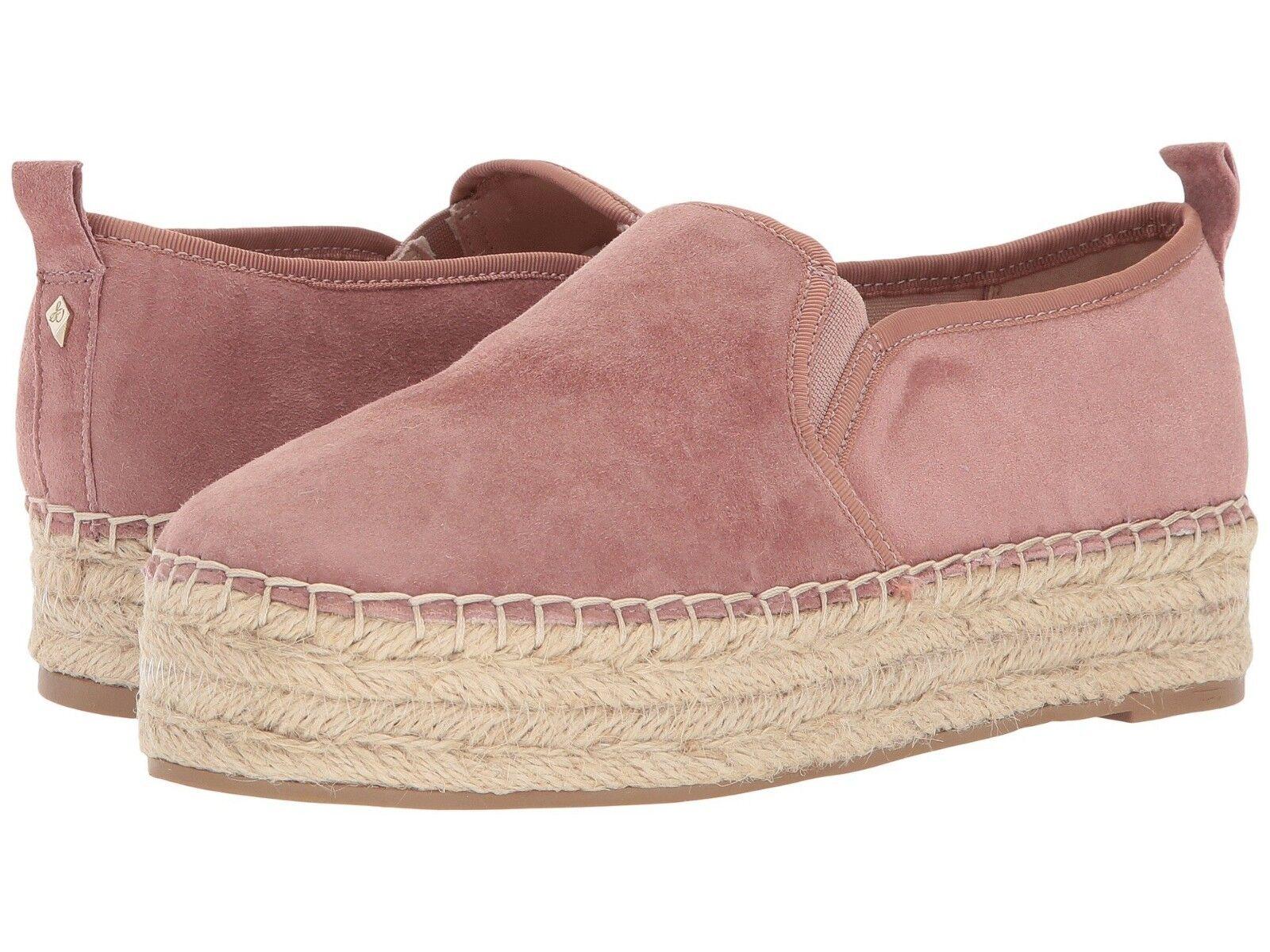 Sam Edelman Mujer Carrin Carrin Carrin Polvoriento rosado Gamuza Plataforma Sin Cordones Zapatos Talla 10 M  compras en linea