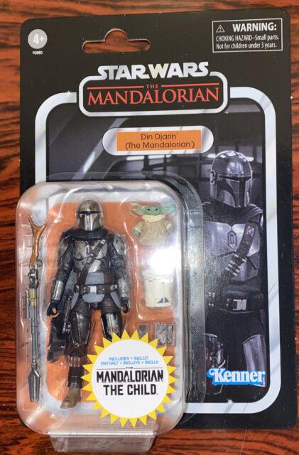 Star Wars VC177 Mandalorian Din Djarin w Child 3.75 Figure Walmart Exclusive