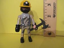 Playmobil SERIES 5 MINER W/ MASK & HELMET & AXE  new fig + orig pkg PM #5460